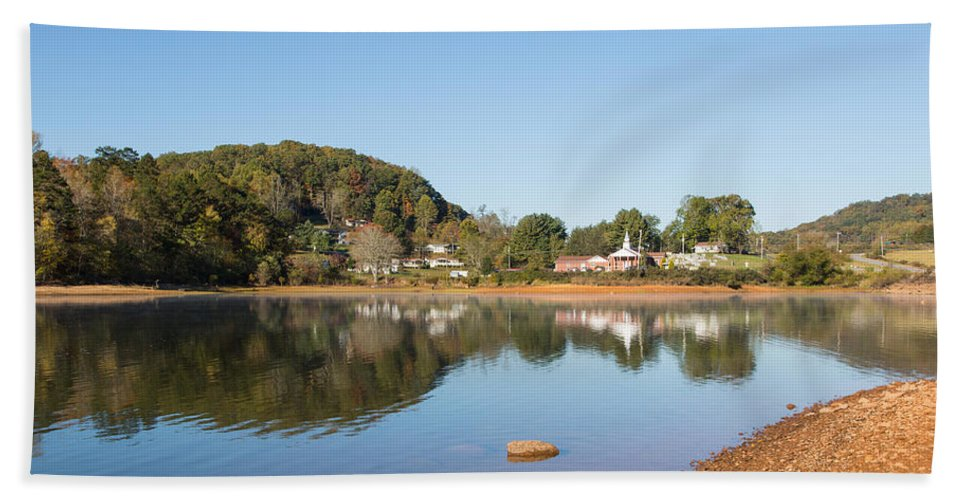 Landscape Hand Towel featuring the photograph Country Lake Scene by John M Bailey