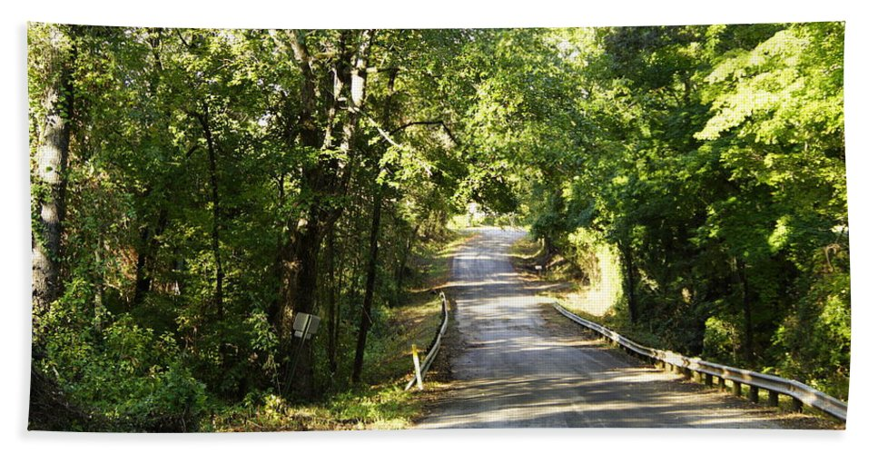 Road Bath Sheet featuring the photograph Country Road by Darrell Clakley