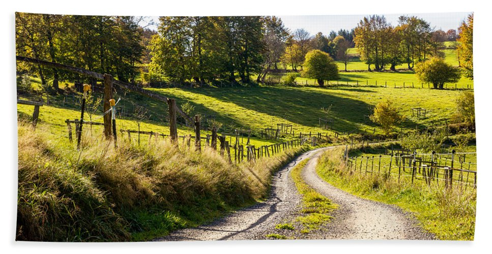 Country Road Bath Sheet featuring the photograph Country Roads by Pati Photography