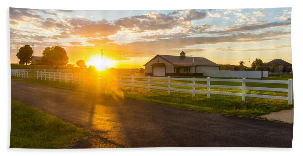 Country Bath Sheet featuring the photograph Country Skies by Daren Johnson