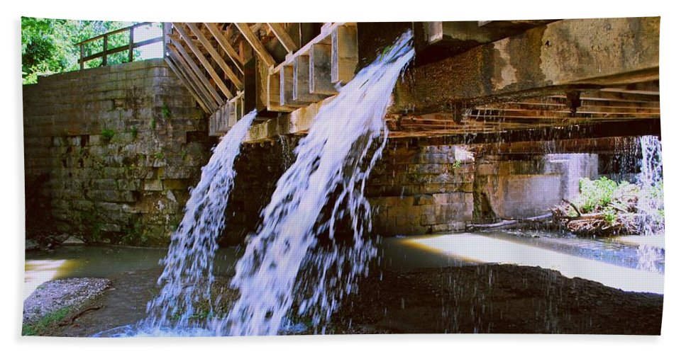 Indiana Hand Towel featuring the photograph Country Waterfall by Gary Wonning