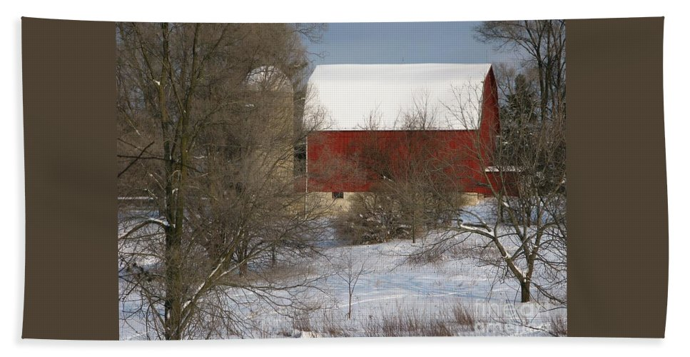 Winter Bath Sheet featuring the photograph Country Winter by Ann Horn