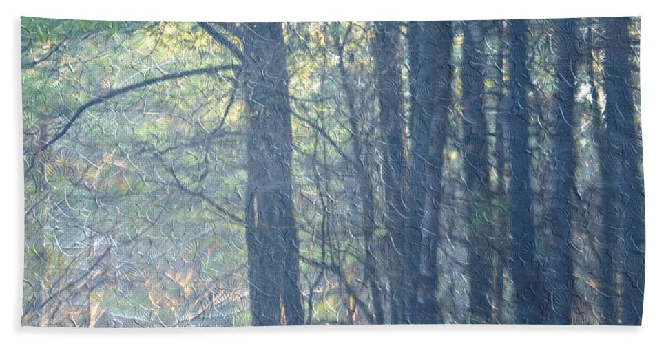 Country Woodlands Hand Towel featuring the photograph Country Woodlands by Maria Urso