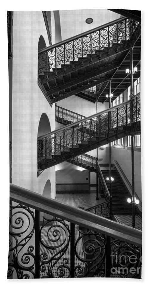 America Bath Sheet featuring the photograph Courthouse Staircases by Inge Johnsson
