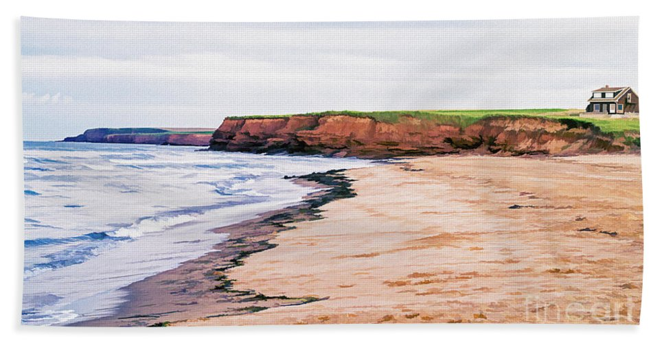 Prince Bath Towel featuring the photograph Cousins Shore Prince Edward Island by Edward Fielding