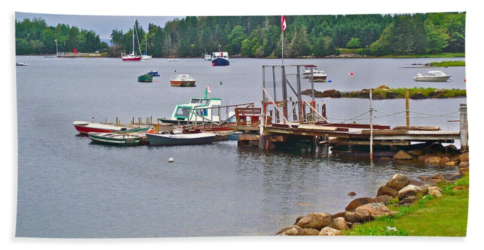Cove In Glen Margaret Hand Towel featuring the photograph Cove In Glen Margaret-ns by Ruth Hager