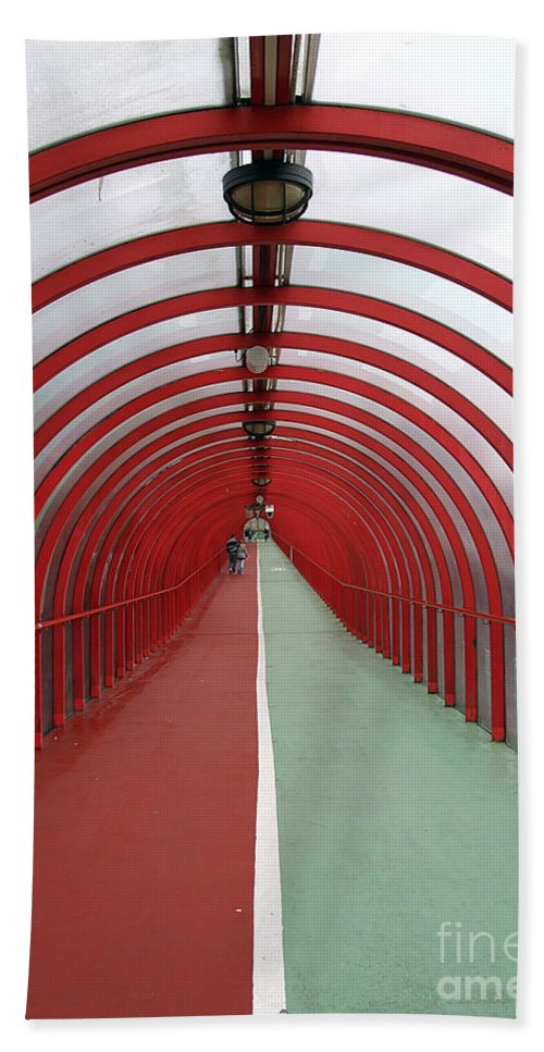 Walk Bath Sheet featuring the photograph Covered Walkway 01 by Antony McAulay