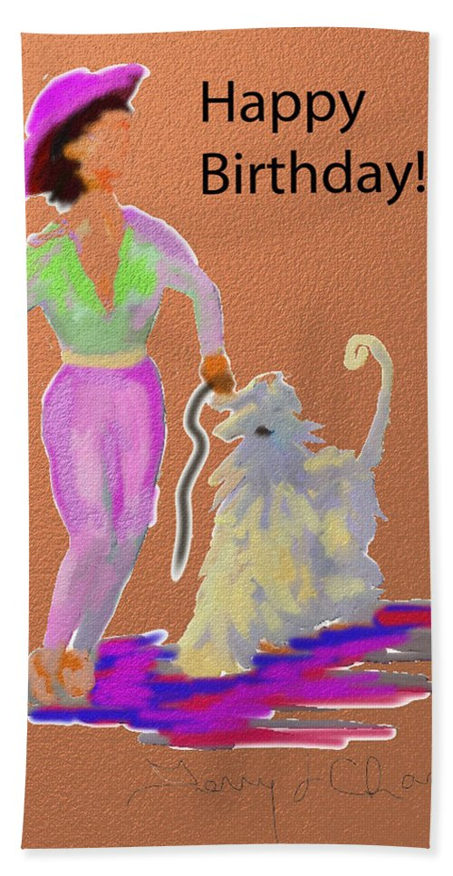 Ipad Finger Painting Hand Towel featuring the painting Cowgirl by Terry Chacon