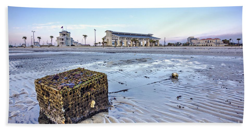 Hdr Bath Sheet featuring the photograph Crab Trap Washed Ashore by Joan McCool