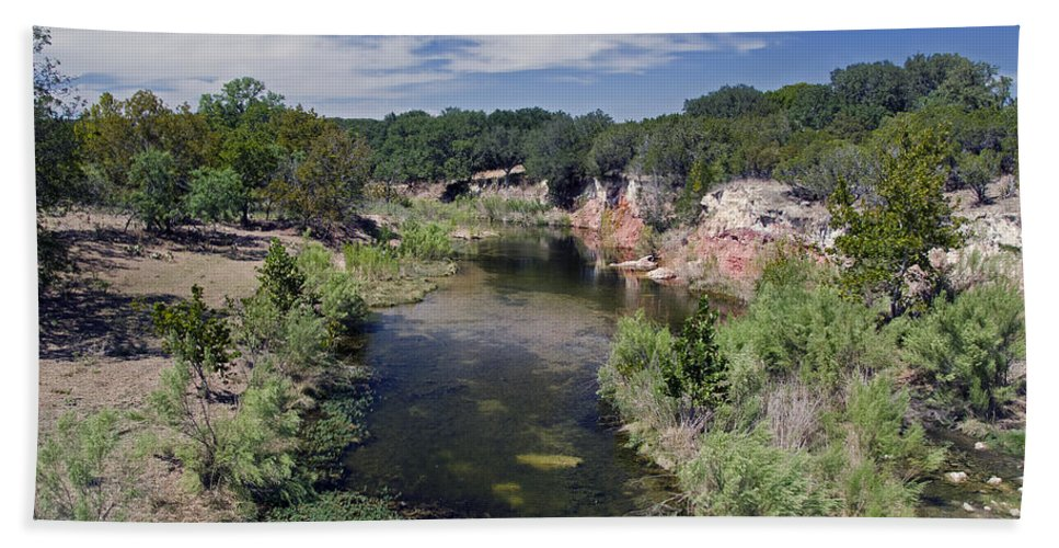 Crabapple Creek Texas Hand Towel featuring the photograph Crabapple Creek Texas by Greg Reed