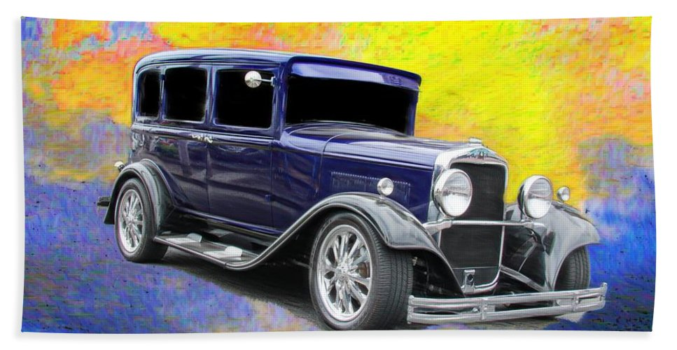Classic Car Hand Towel featuring the photograph Crank It by Aaron Berg