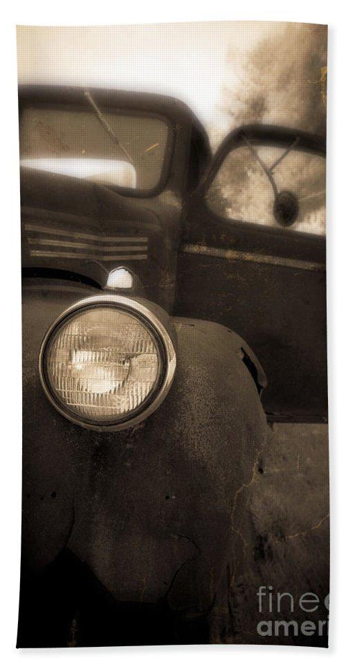 Truck Bath Sheet featuring the photograph Crash by Edward Fielding