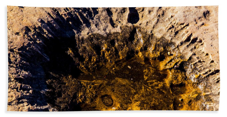 Grand Canyon Hand Towel featuring the photograph Crater by Angus Hooper Iii