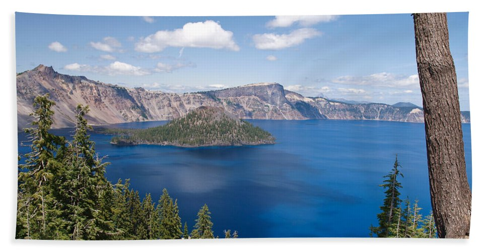 Crater Lake Bath Sheet featuring the photograph Crater Lake National Park by Diane Schuster