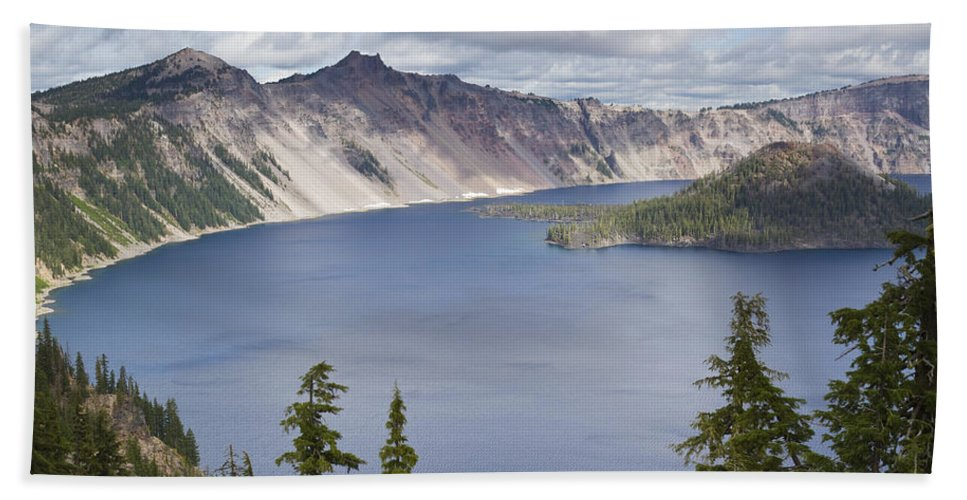 Lake Bath Sheet featuring the photograph Crater Lake Or 10 by John Brueske