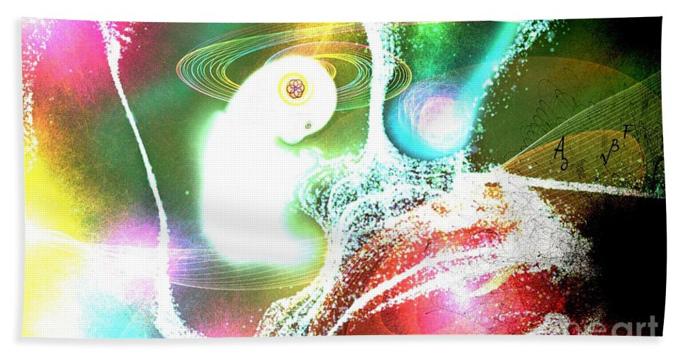 Creation Hand Towel featuring the digital art Creation by Bobbie S Richardson