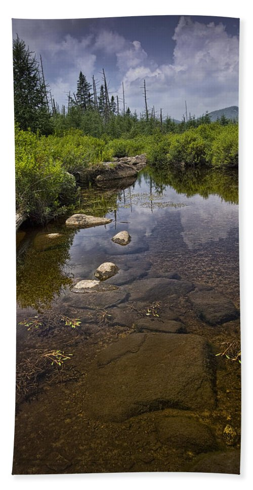 Art Bath Sheet featuring the photograph Creek In Vermont by Randall Nyhof