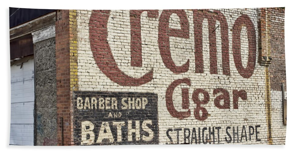 Bath Sheet featuring the photograph Cremo Cigar by Cathy Anderson