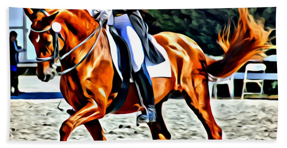 Dressage Bath Sheet featuring the photograph Crested by Alice Gipson