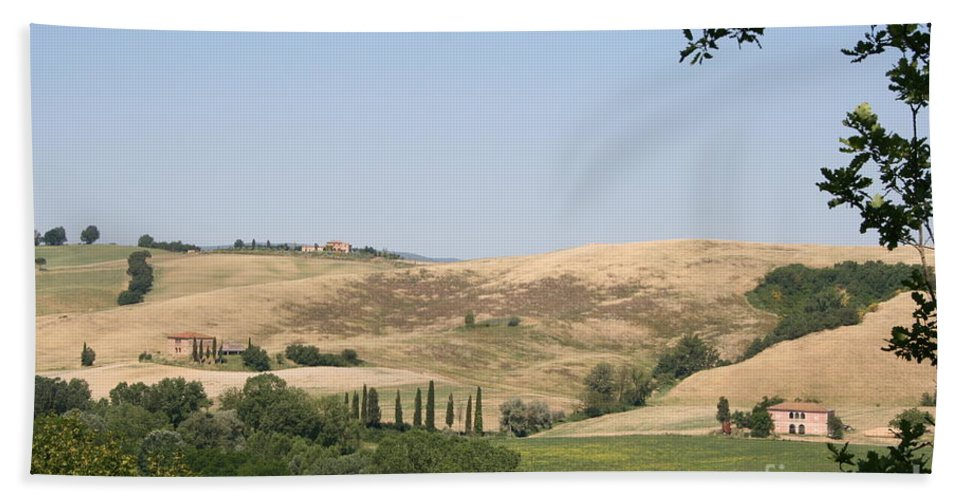 Landscape Bath Sheet featuring the photograph Crete Senesi by Christiane Schulze Art And Photography