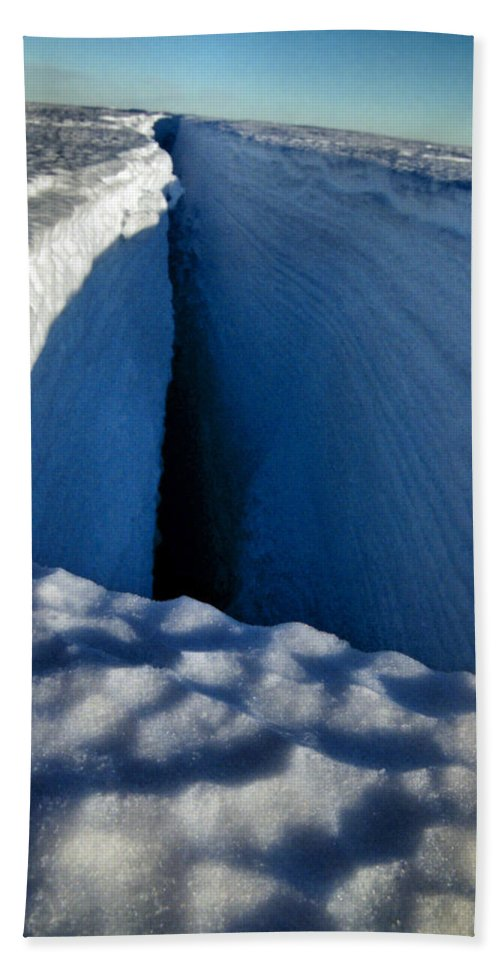 Crevasse Bath Sheet featuring the photograph Crevasse by Carole-Anne Fooks