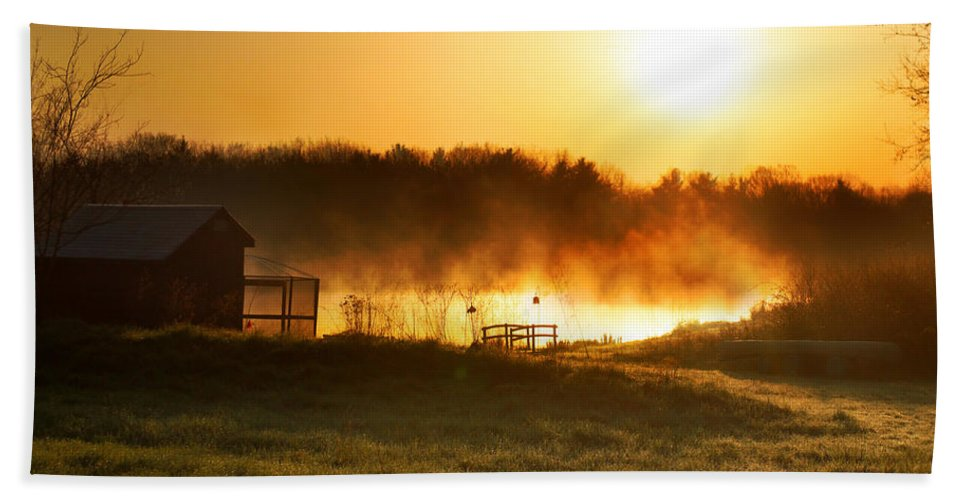 Sunrise Hand Towel featuring the photograph Crisp Spring Morning by Rob Blair
