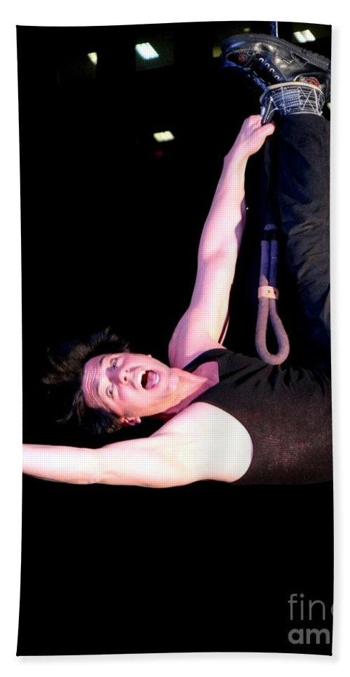 Magician Bath Sheet featuring the photograph Criss Angel Breaks Free by Ed Weidman