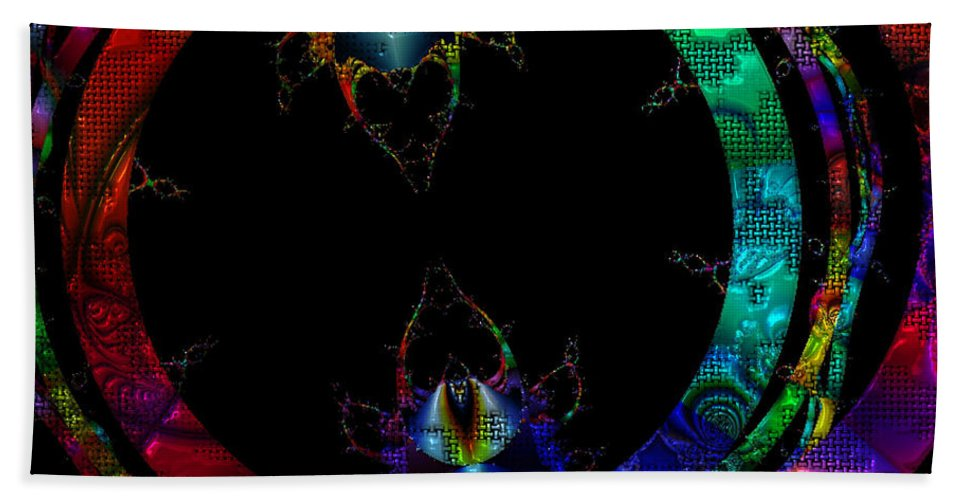 Fractal Hand Towel featuring the digital art Critter Love by Claire Bull