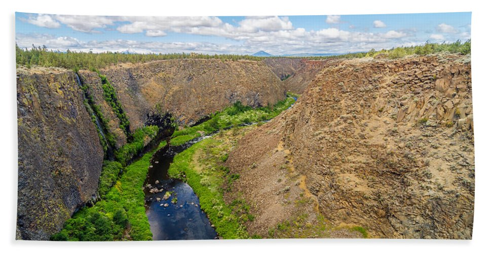 Rocks Hand Towel featuring the photograph Crooked River Canyon by Jess Kraft