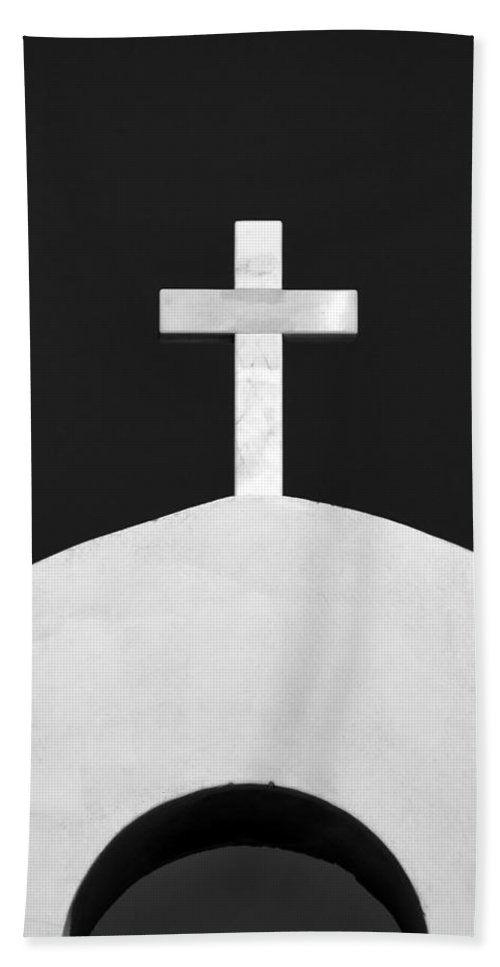 Architecture Hand Towel featuring the photograph Cross by Stelios Kleanthous