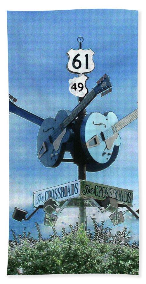 Blues Bath Sheet featuring the photograph Crossroads In Clarksdale by Lizi Beard-Ward