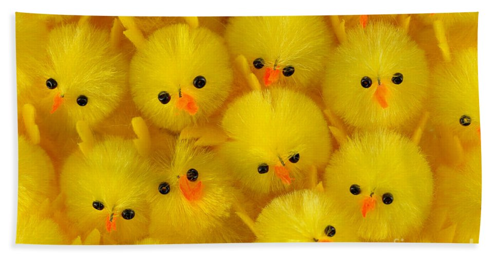 Chick Hand Towel featuring the photograph Crowded Chicks by Grigorios Moraitis