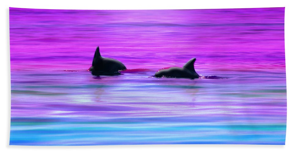 Seascapes Hand Towel featuring the photograph Cruisin' Together by Holly Kempe