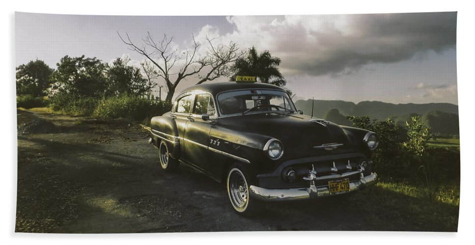 1950s Hand Towel featuring the photograph Cruising Into The Weekend.. by A Rey
