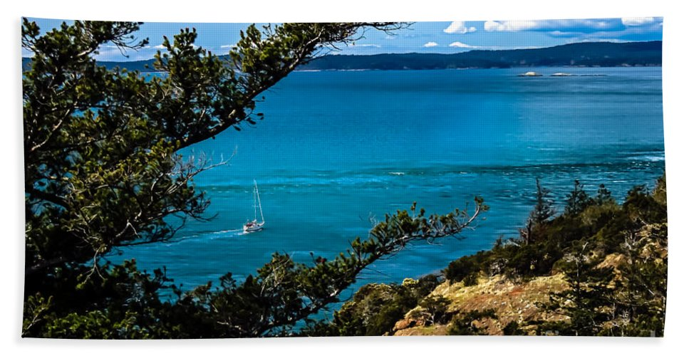 Trees Bath Sheet featuring the photograph Cruising by Robert Bales
