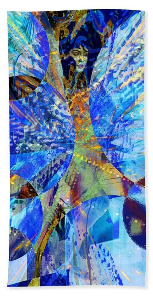 Crystal Blue Persuasion Hand Towel featuring the digital art Crystal Blue Persuasion by Seth Weaver