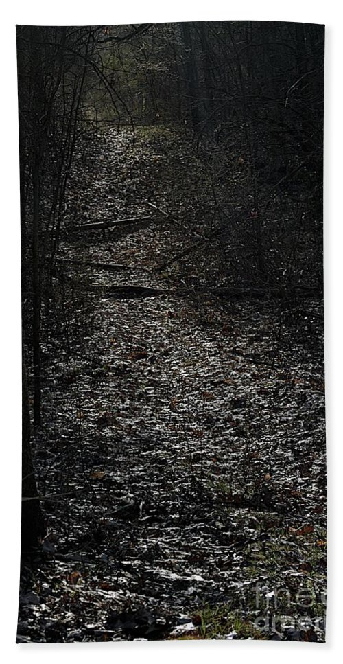 Trail Hand Towel featuring the photograph Crystal Path by Joseph Yarbrough