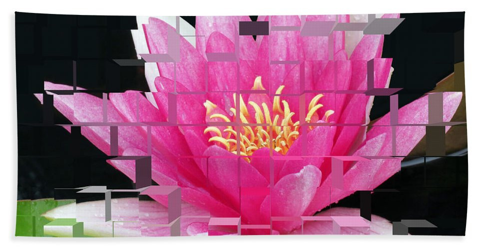 Lily Bath Sheet featuring the photograph Cubed Lily by Darleen Stry
