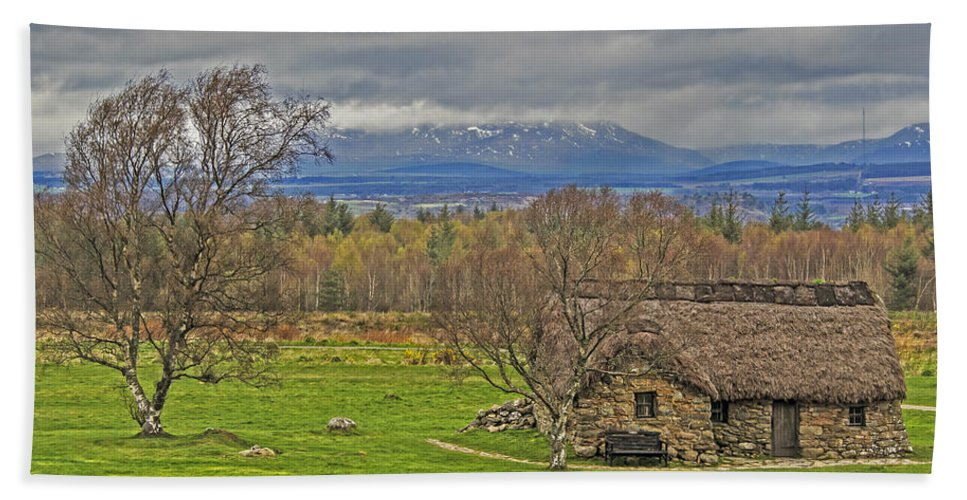 Travel Hand Towel featuring the photograph Culloden Moor And Old Leanarch by Elvis Vaughn