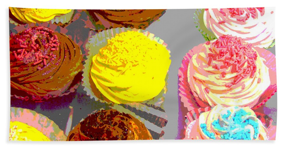 Cupcakes Hand Towel featuring the photograph Cupcake Suite by Beth Saffer