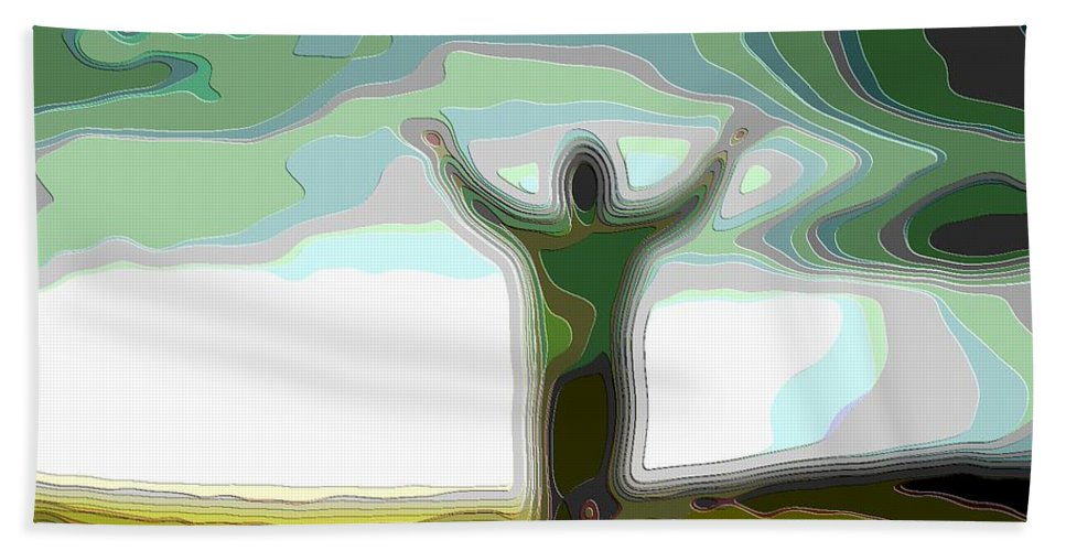 Cutout-art Hand Towel featuring the digital art Cutout Layer Art Uplifted by Mary Clanahan