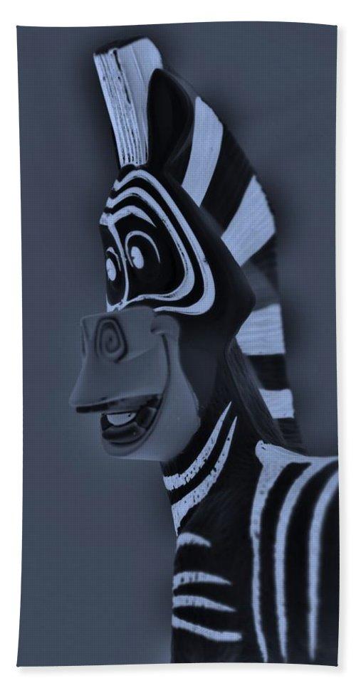 Zebra Bath Sheet featuring the photograph Bluegray Zebra by Rob Hans