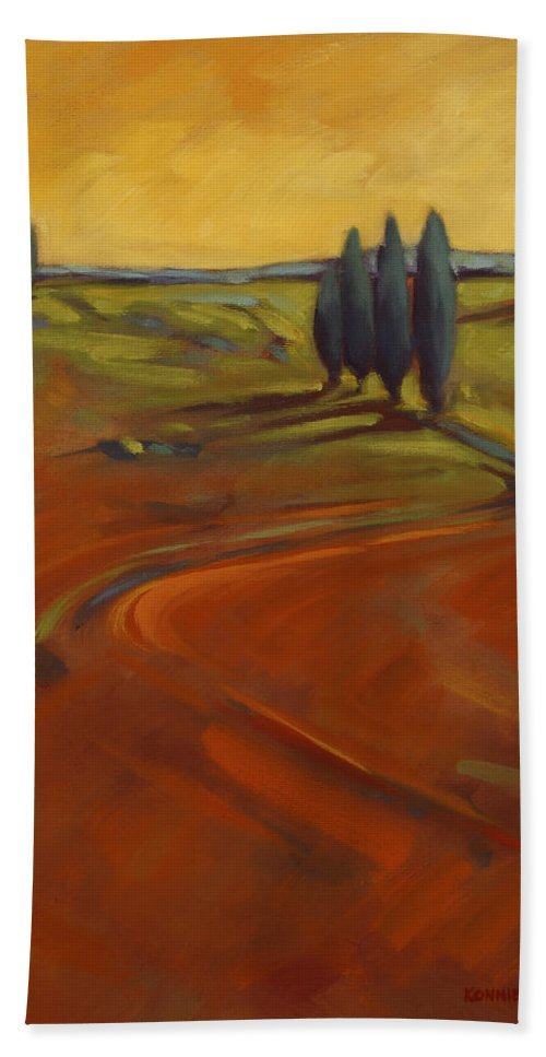 Cypress Bath Towel featuring the painting Cypress Hills 3 by Konnie Kim