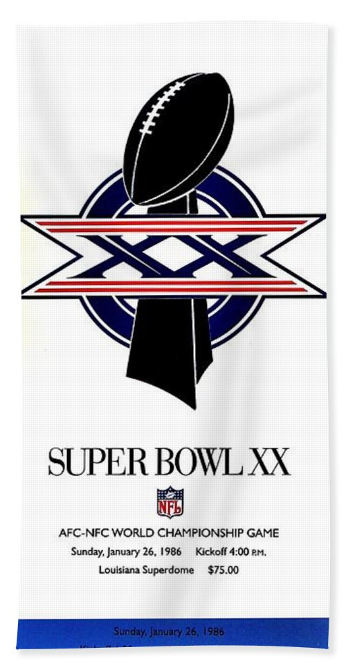 Super Bowl Hand Towel featuring the photograph Da Bears by Benjamin Yeager