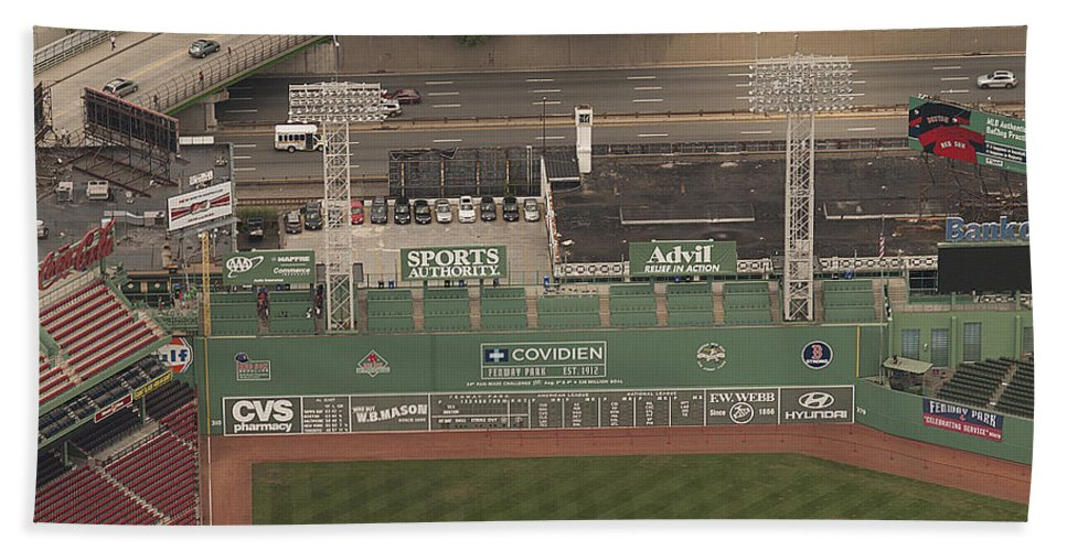 Green Monster Hand Towel featuring the photograph Da Monsta by Joshua House