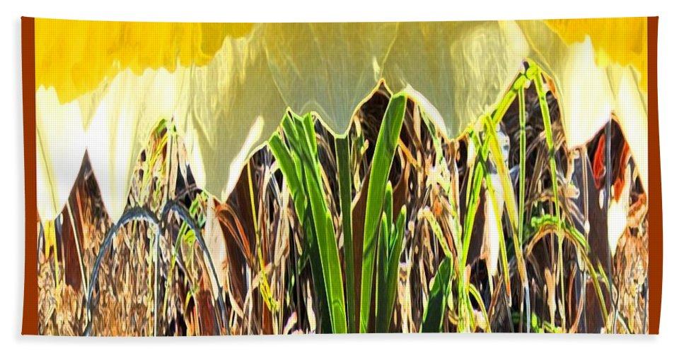 Digital Art Bath Sheet featuring the photograph Daffy One by Marian Bell