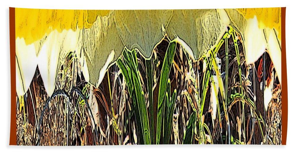 Digital Art Bath Sheet featuring the photograph Daffy Three by Marian Bell