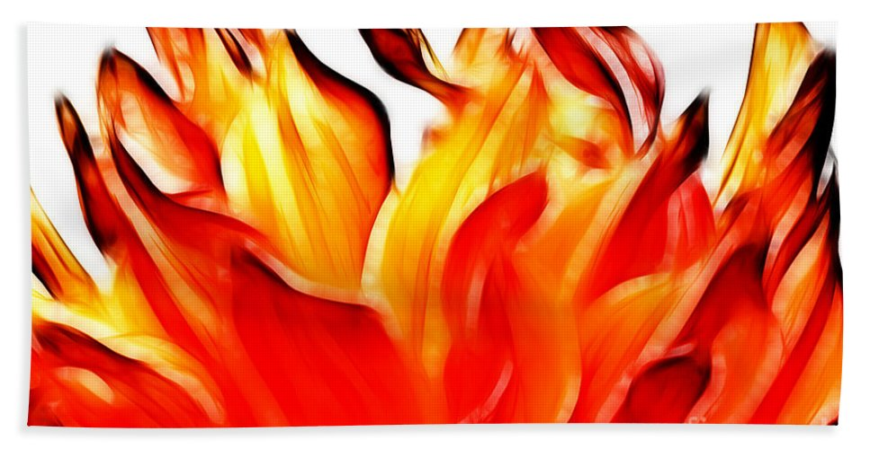Dahlia Bath Sheet featuring the photograph Dahlia On Fire by Brothers Beerens