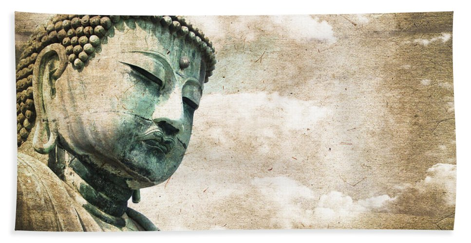 Buddha Hand Towel featuring the photograph Daibutsu by Delphimages Photo Creations