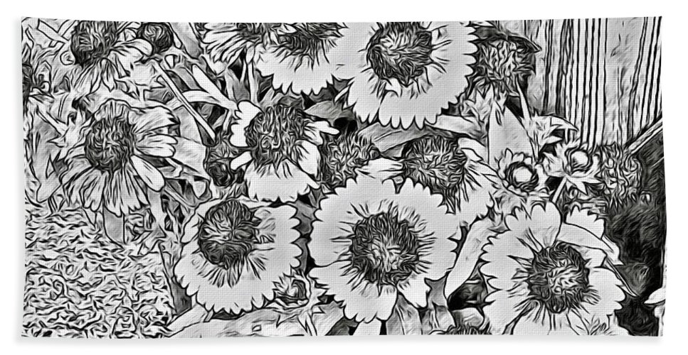 Daisies Bath Sheet featuring the photograph Daisies In Relief by Alice Gipson